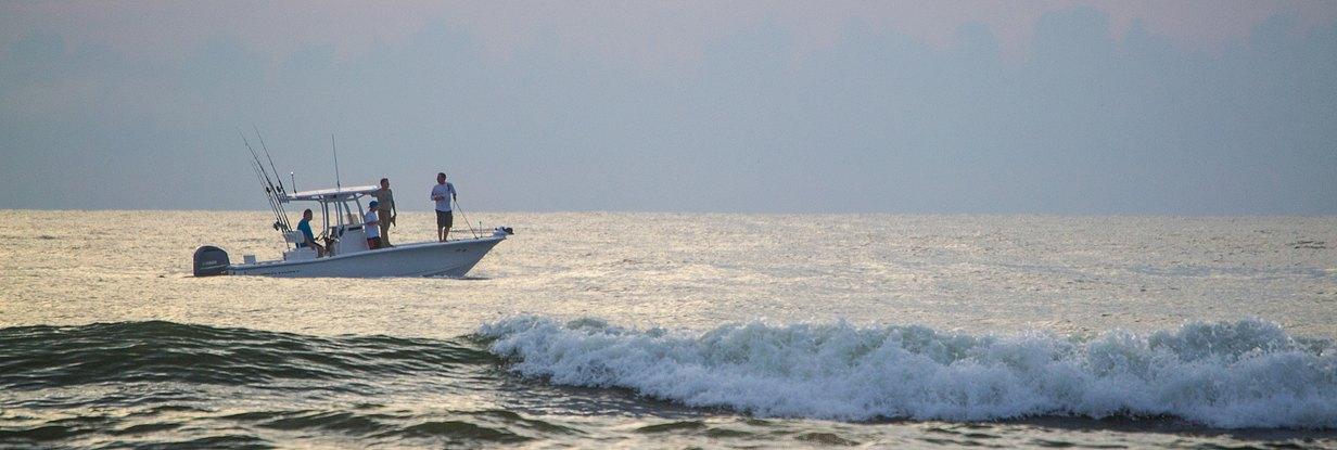 people on fishing boat