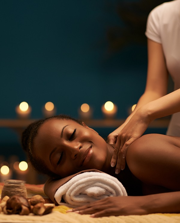 Woman getting a nice Massage